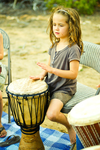 girl likes to drum