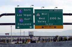 Junction of Interstates 80 & 15, near Salt Lake City (ap0013) Tags: usa america utah ut nikon highway downtown saltlakecity interstate slc americanwest interstate80 interstate15 d90 interstatehighway nikond90