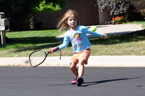 Alana -- tennis in the road