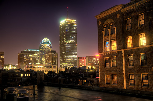 The Prudential Center at Night