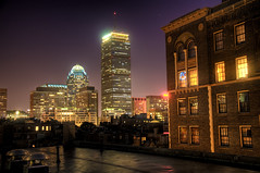 The Prudential Center at Night (Werner Kunz) Tags: world city longexposure trip travel cambridge vacation urban usa holiday building tower boston skyline speed america photoshop ma town us nikon long exposure downtown time massachusetts urlaub north newengland wideangle center stadt northamerica 40 priority dri hdr backbay architecure prudentialcenter hdri werner reise beantown metropole shutterspeed skyscrapper kunz photomatix 20fav explored colorefex nikond90 topazadjust werkunz1