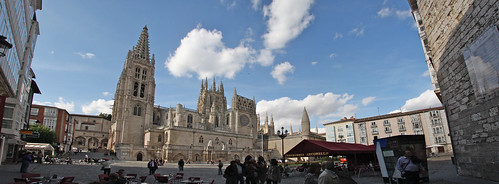 Burgos Cathedral Square Panorama