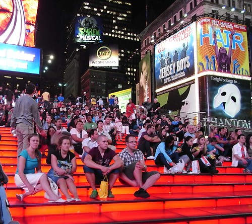 times square stairs?