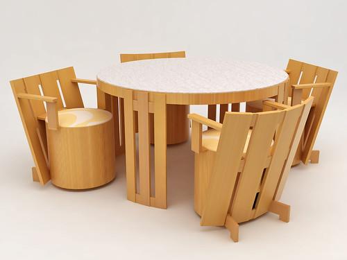 Conjunto mesa e cadeiras de bar
