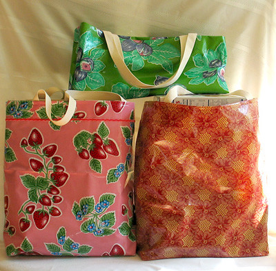 Oilcloth Grocery Bags