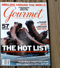 Gourmet Magazine on my porch