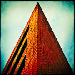 | / \ | (manganite) Tags: sky urban black color berlin geometric lines wall architecture digital photoshop vintage buildings catchycolors germany dark square de geotagged iso100 xpro nikon colorful europe tl framed perspective vivid front frame highsaturation potsdamerplatz cropped d200 nikkor dslr mitte vignette f28 cladding upwards lightroom 50mmf18 triangel l05 structured nikond200 manganite colorefexpro filterforge 18000sec date:month=september date:day=10 date:year=2009 format:orientation=square format:ratio=11 18000secatf28 geo:lon=13374283 geo:lat=52505803 stadtgetty2010
