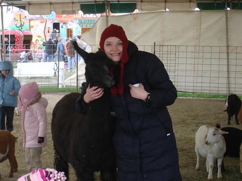 Erica and llama