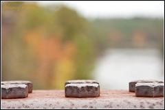 A good question.... (Nancy Rose) Tags: bridge autumn trees closeup river dof maine rusty bolt bolts six farmington hbw