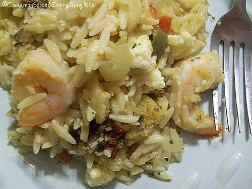 Baked Lemon-Oregano Orzo & Shrimp