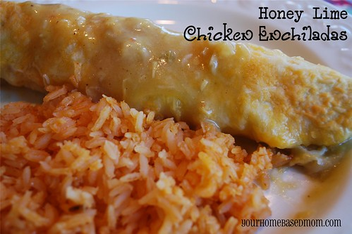 honey lime chicken enchilada