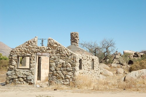 A ghost town house in the desert near San Diego.