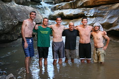 River hike - Jason Ropp, Darrel Miller, Jesse Springer, Harlan, Mike Erb, Darren Stauffer