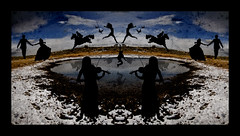 Yes? (Aaron Varga) Tags: winter sky snow cold reflection slr fall texture water silhouette clouds digital reflections dark landscape photography utah pond nikon aaron silhouettes ripples varga d90