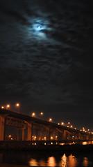 Spooky moon.... (Kim Kurtz) Tags: moon kim nightscene waterreflection coth burlingtonskyway kurcz