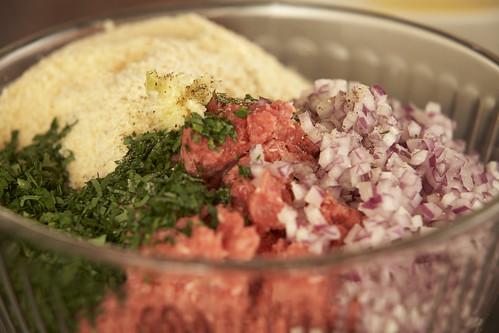 Aussie Burger Ingredients in a Bowl