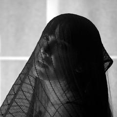 lady madonna (.:grana:.) Tags: portrait woman square donna noir eli madonna femme beatles ritratto nero velo volto
