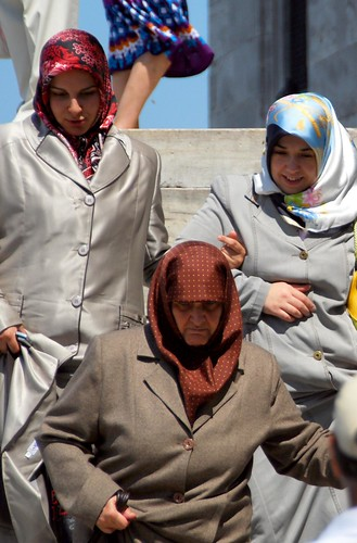colorful headscarves and overcoats, istanbul