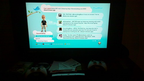 Twitter is now on xbox 360 #N900 by mackarus, on Flickr