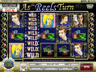 free As the Reels Turn 3 slot bonus game