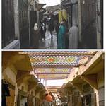 Fès: Travaux de réalisation des auvents et Mamouni  à souk R'cif