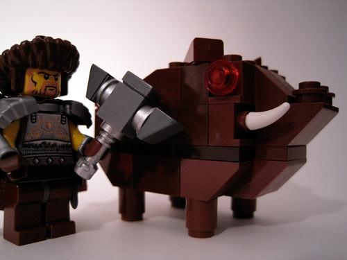 Hundir and his Battle Boar