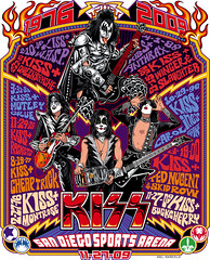 Kiss San Diego Sports Arena Limited Edition Poster Art (Mel Marcelo) Tags: drums concert kiss vectorart guitar rockposter genesimmons limitededition paulstanley adobeillustrator sandiegosportsarena ericsinger spotcolors melito tommythayer melmarcelo