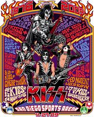 Kiss San Diego Sports Arena Limited Edition Poster Art (Mel Marcelo) Tags: drums concert kiss vectorart guitar rockposter genesimmons limitededition paulstanley adobeillustrator sandiegosportsarena ericsinger spotcolors melito tommythayer melmarcelo