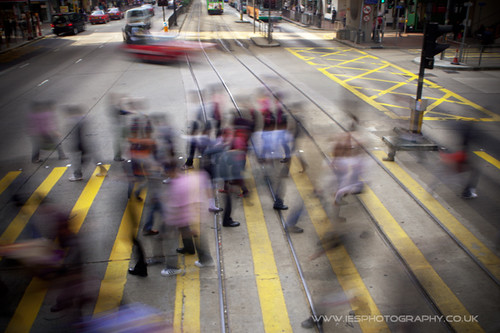 Hong Kong Crossing From Top of a Tram