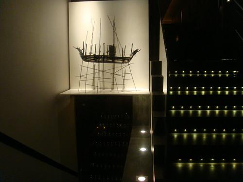 Detalle del Barco de Miró de la Puerta
