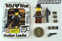 Outlaw Leader Minifig by Thrash (The Skull Bandit) Tags: wild west brick art apple movie for tv call arms lego duty ghost engine halo artsy will prototype microsoft amelia trans thrash custom build cod nerf trade bionicle weapons proto prototypes chapman protos mw2 brickarms mw1