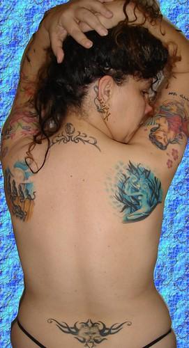 girl tattoos back Tribal Tattoos at Women Backside