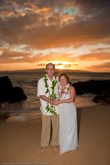 Linda&Don Maui -5277 (Mike Rosati Photography) Tags: ca wedding sunset andy hawaii secretbeach maui rosati makenacove lindamorgan donzacharias