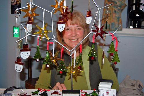 Jeannette Therrien of Wagon Yard Artists at last year's We Love Marlborough Christmas Art Market