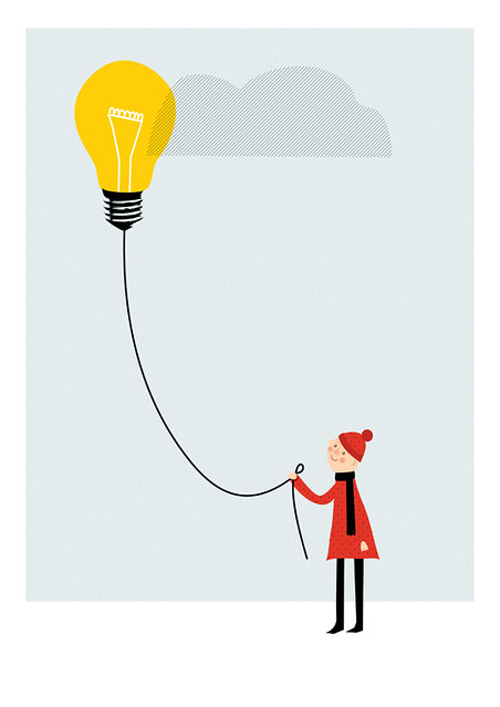 light bulb - balloon