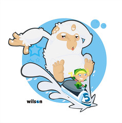 Trineo! (Wilson Becerra) Tags: christmas snow ice girl monster illustration speed navidad gorilla five nia elf albino cinco velocidad vectors vector helado ilustracion gorila carrera abominable sledge jeti monstruo duende career vectorial nieves trineo vectores
