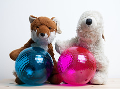 Thank you Flickr! (The Fox and the Polar Bear) Tags: blue logo flickr thankyou purple weloveflickr mrfox giantbaubles mrspb
