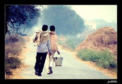 life must GO-ON (jas-B) Tags: life road men way nikon village raju saran haryana ghoda boora d40 rular kaithal jasboora