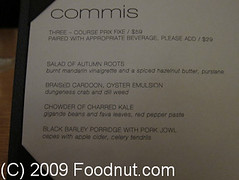 Commis-Oakland-Menu (foodnut.com) Tags: food menu restaurant oakland foodporn foodie restaurantreview commis restaurantguide jamessyhabout foodnutcom contemporarycaliforniacuisine