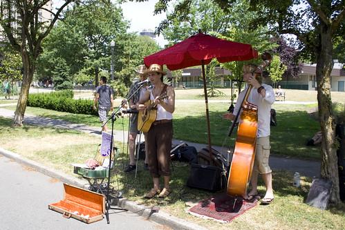 Musiciens au marché