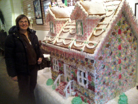 Sister with Gingerbread House (Click to enlarge)
