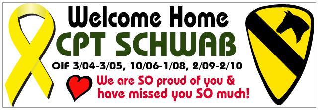 Steve's homecoming banner