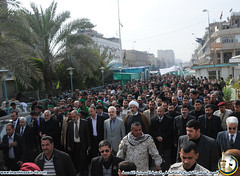 تظاهرة غاضبة في محافظة كربلاء استنكارا لمحاولة اعادة البعثيين الى السلطة