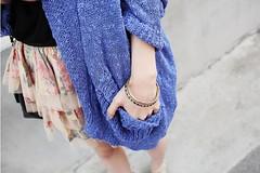Blue Cardigan (ifhoodiescanfly) Tags: blue girl fashion pretty chic knitted cardigan zipia