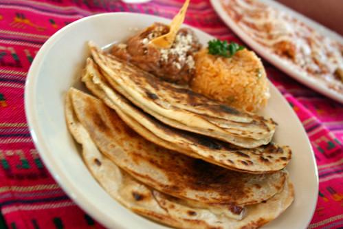 Todos Santos - Quesadillas (Plain) at Las Fuentes
