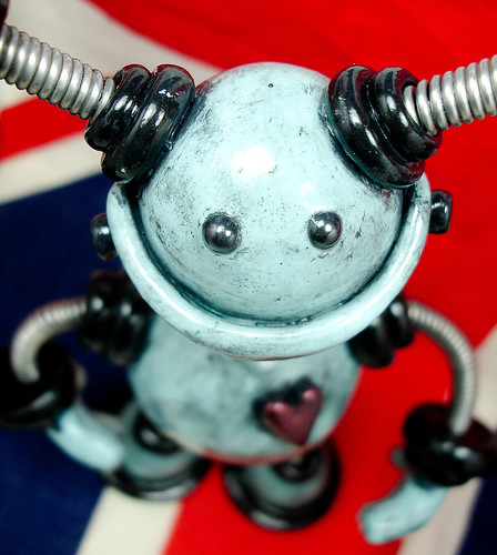 Baby Blue Byron | Robot Sculpture by HerArtSheLoves