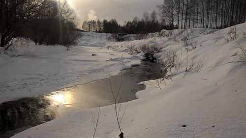р. Черёмуха, зима