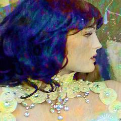 En profil (Tedje51) Tags: mannequin portrait bride jewelry lace colours pse hss textures