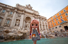 Blythe at the Trevi Fountain in Rome!
