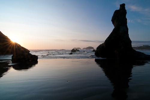 stacks at sunset, Bandon Beach